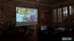 Юные художники Авдеевки приняли участие в телемосте с дочерью известной художницы Татьяны Яблонской