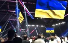 Россияне встали, услышав гимн Украины. ВИДЕО