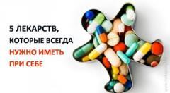 Лекарства, которые всегда нужно иметь при себе