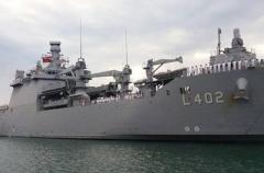 В Одессу прибыл мощный военный корабль