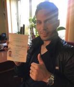 Марлос показал свой украинский паспорт