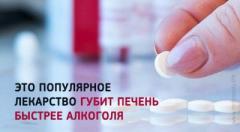 Популярное лекарство, которое действует на печень хуже алкоголя
