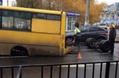 У Донецкой маршрутки отвалились колеса прямо во время движения