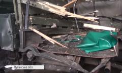 На Донбассе ракета боевиков попала в грузовик ВСУ. ВИДЕО