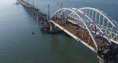 Строительство Керченского моста: оккупанты заявили об установленных всех опорах автодорожной части