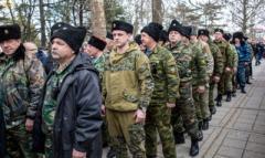 В оккупированной Горловке появились казачьи патрули из России