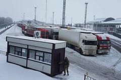 Пробка на пункте пропуска в «Гоптовке» продолжает расти из-за блокады РФ