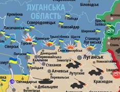 """Опубликована новая карта обстрелов Донбасса: все """"горячие точки"""" - на Луганщине"""