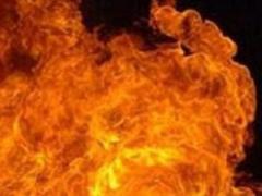Макеевка: огонь охватил девятиэтажный дом