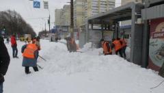 В Днипре за сутки выпала двухмесячная норма снега