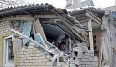 Оккупированная Саханка попала под обстрел, повреждены жилые дома