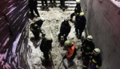 В Днепре обвалился вход в подземный переход