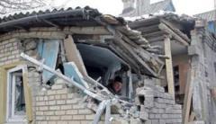 Центр оккупированной Горловки попал под обстрел: повреждены жилые дома