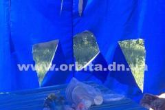 В Покровске на Донетчине изрезали палатку юных патриотов