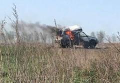 На Донбассе по авто с гуманитарной помощью выпустили ракету