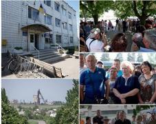 Жебривский порадовал жителей Марьинки и Красногоровки