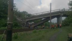 На трассе Красный Луч - Луганск взорван мост: появились фото