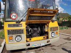 Под Мариуполем загорелся школьный автобус с детьми