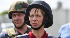 Первый иностранный президент, посетившая Донбасс, призвала назвать войну войной