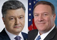 """Порошенко и Помпео обсудили """"Джавелин"""", """"Северный поток - 2"""" и МН17"""