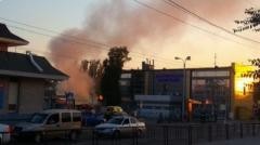 В Донецке на Южном автовокзале пожар