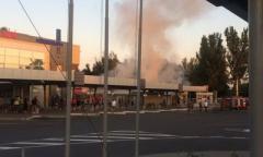 Пожар на Южном автовокзале Донецка. В соцсети появились фото