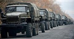 С оккупированных территорий в РФ вывозят неизвестные грузы колоннами грузовиков