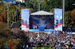 Пушилин объявил об участии в «выборах», воспользовавшись мероприятием в центре Донецка