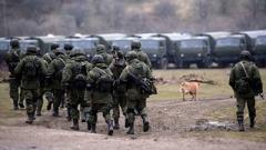 В Крыму заметили большую колонну российской военной техники