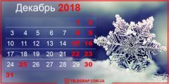 Выходные в декабре: как будут отдыхать украинцы