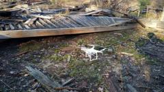 В Ичне возле хранилищ обнаружили беспилотник