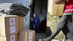 ГПСУ: Красный Крест направил в ОРДО 25 тонн гумпомощи