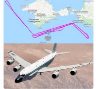 Самолет-разведчик США 2 часа кружил над местом столкновения Украины и России на Азове - россияне возмущены
