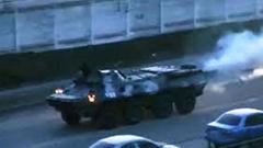 В ОРЛО БТР «ЛНР» протаранил легковое авто: пострадал мужчина
