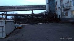 В Донецке на шахте обвалился мост