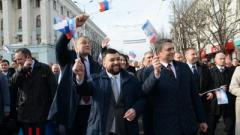 Пушилин вместе с «главой» Крыма и депутатами Госдумы РФ провели митинг в Севастополе