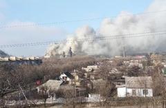 В Донецке горит шахта