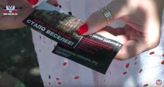 Листовки ВСУ, сброшенные с беспилотника на Саханку, ввергли в ярость оккупантов и пропагандистов