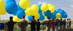 Спасибо, родненькие: В сторону Донецка запустили украинский флаг