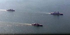Появились яркие кадры морских учений войск США и Украины, снятые с воздуха. ВИДЕО