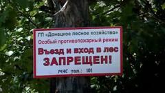 В ОРДО временно запретили въезд и вход в леса
