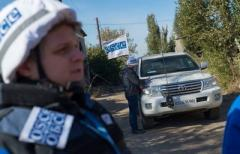 Наблюдатели СММ ОБСЕ попали под обстрел в районе н.п. Пикузы
