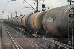В Ясиноватой замечен железнодорожный состав с вагонами РЖД