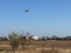 «Кто не был в оккупации — не поймет, как нам это душу греет»: в донецкое небо запущен флаг Украины