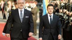 Зеленский начал официальную встречу с президентом Латвии