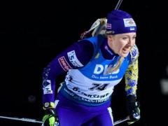 Юлия Джима завоевала серебро на Кубке мира по биатлону