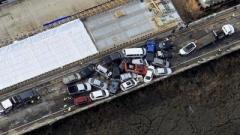 В США столкнулись сразу 69 автомобилей (ВИДЕО)
