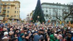 В Ивано-Франковске установили рождественский рекорд (ВИДЕО)