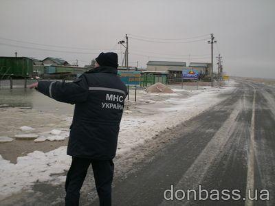 Запорожская область: снегопад и подтопление (ФОТО)