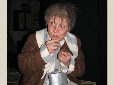 Тамара Котова в образе узницы концлагеря: «Вот так выглядели наши женщины, угнанные в Германию».